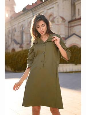 Сукня кольору хакі | 5691369