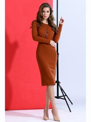 Сукня теракотового кольору   5691390