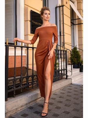 Сукня теракотового кольору   5691415