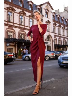Сукня кольору марсала   5691416