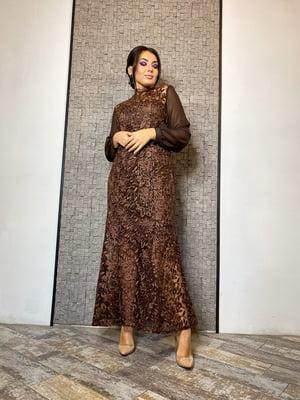 Сукня шоколадного кольору | 5691500