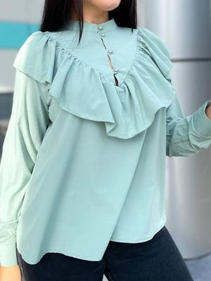 Блуза блакитного кольору | 5691530