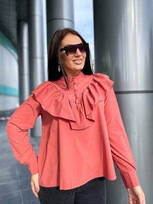 Блуза теракотового кольору | 5691531
