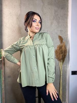 Сорочка оливкового кольору | 5691537