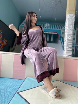 Пижама: майка, брюки и халат | 5691565