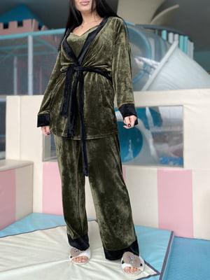 Піжама: майка, штани і халат | 5691566