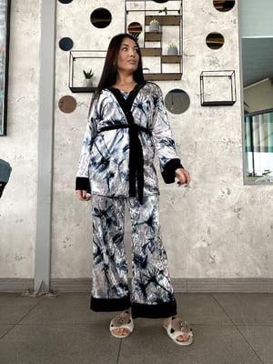 Пижама: майка, брюки и халат | 5691567