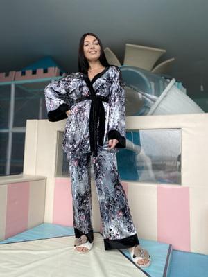 Піжама: майка, штани і халат | 5691568