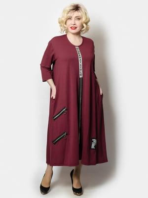 Платье бордовое | 5691127