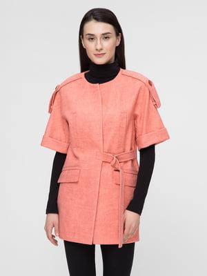 Пальто кораллового цвета   5691627