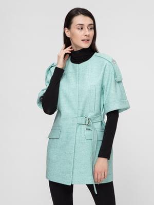 Пальто мятного цвета | 5691628