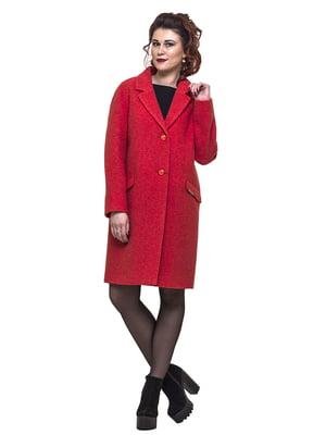 Пальто красное   5691636
