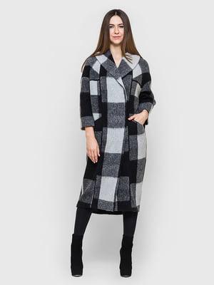 Пальто сіро-чорне в клітку   5691640