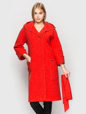 Пальто красное   5691643