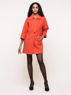 Пальто оранжевое   5691646