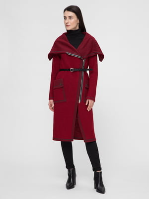 Пальто бордовое | 5691657