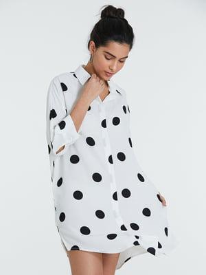 Сукня біла в горошок | 5686552