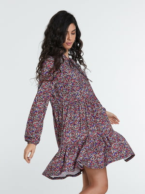 Сукня різнокольорова в принт | 5686776
