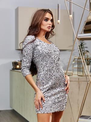 Сукня сріблястого кольору | 5688377