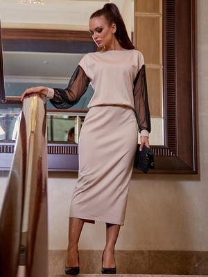 Сукня кавового кольору | 5688395