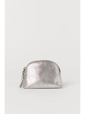 Косметичка серебристого цвета | 5691931