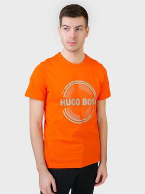 Футболка оранжевая с принтом | 5683810