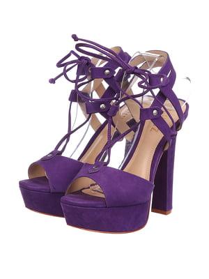 Босоніжки фіолетові | 5694127