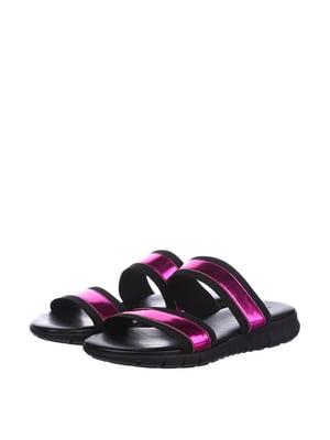 Шлепанцы черно-розового цвета | 5694145