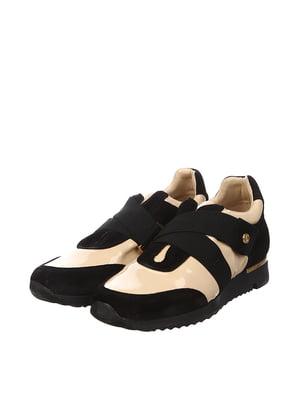 Кроссовки черно-бежевого цвета | 5694222