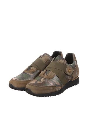 Кроссовки цвета хаки с камуфляжным принтом | 5694224