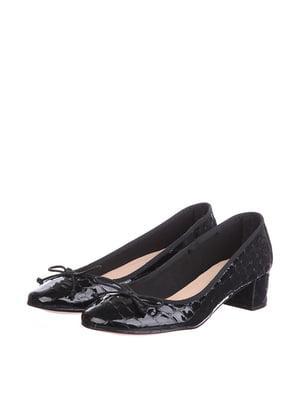 Туфли черные с узором | 5694242