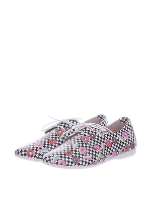 Туфлі з комбінованим принтом | 5694258