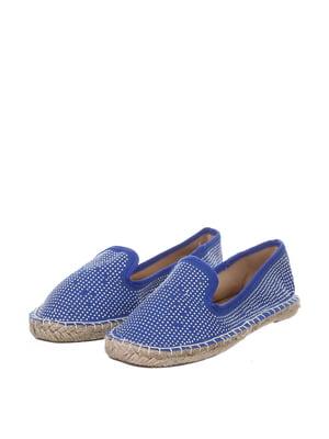 Еспадрильї сині з декором-цяточкою   5694350