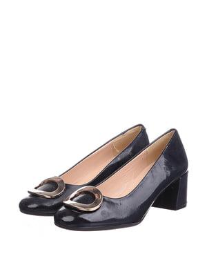 Туфли синие с декором | 5694399