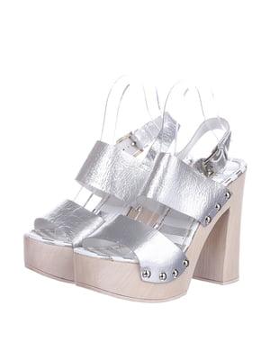 Босоніжки сріблястого кольору | 5694468