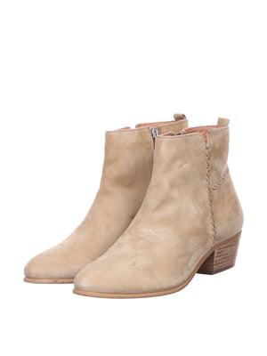 Ботинки бежевого цвета | 5694357