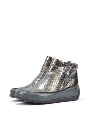 Ботинки комбинированного цвета с узором | 5694262