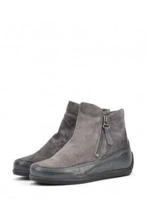 Ботинки серо-зеленого цвета | 5694270