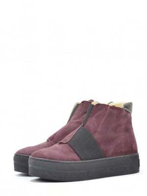 Ботинки бордового цвета | 5694281