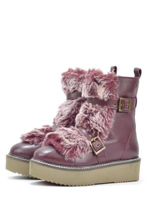 Ботинки бордового цвета | 5694305