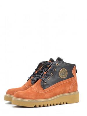 Ботинки сине-терракотового цвета | 5694326