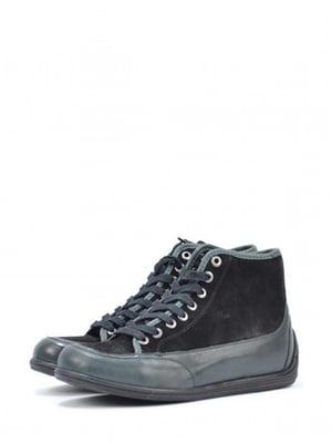 Ботинки черно-зеленого цвета | 5694389