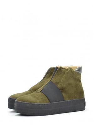 Ботинки оливкового цвета | 5694397