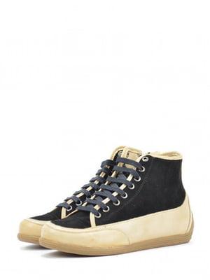 Ботинки черно-бежевого цвета | 5694420