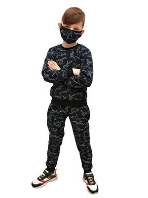 Костюм: свитшот, брюки и маска | 5694653