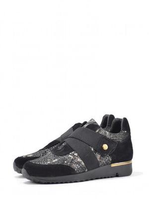 Кроссовки черные с анималистическим узором | 5694304