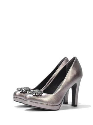 Туфлі бронзового кольору з декором | 5694376