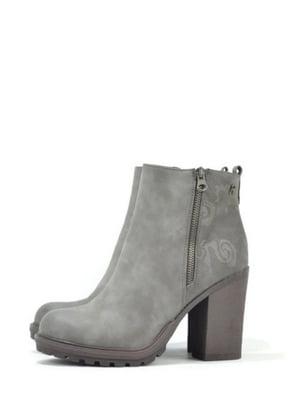 Ботинки серые с узором | 5694538