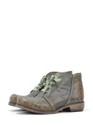 Ботинки оливкового цвета в клетку | 5694540