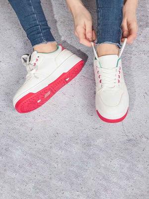 Кросівки білі-малинові | 5643013